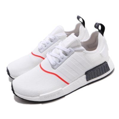 adidas 休閒鞋 NMD R1 襪套式 男女鞋 海外限定 愛迪達 Boost 緩震 穿搭 白 紅 EE5086