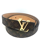 Louis Vuitton MINI 25MM Monogram 基本款皮帶
