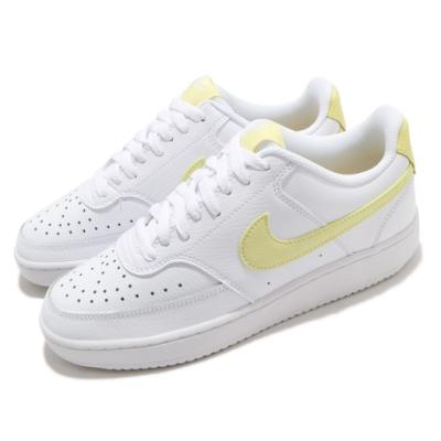 Nike 休閒鞋 Court Vision 運動 女鞋 基本款 簡約 舒適 球鞋 質感 穿搭 白 黃 CD5434109