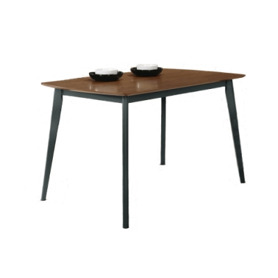 Boden-堤恩工業風4尺餐桌-胡桃色-120x75x75cm