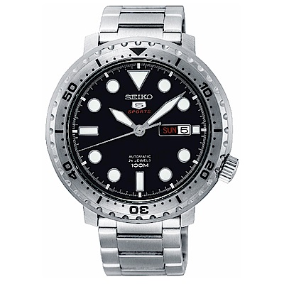 SEIKO精工 小鮪魚精工5號罐頭機械自動上鍊男腕錶-銀x42mm(SRPC61K1)