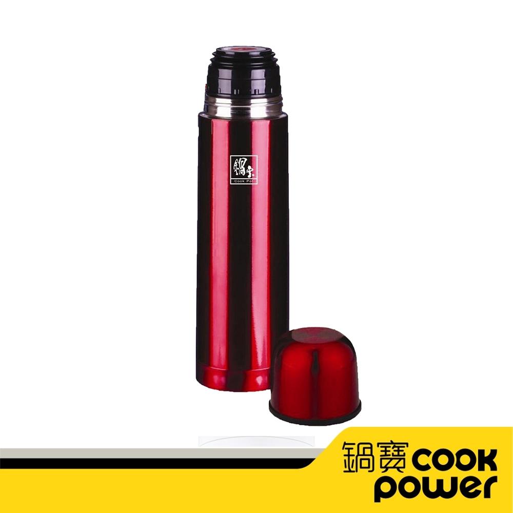 【CookPower鍋寶】超真空保溫瓶500CC(紅) VB-505