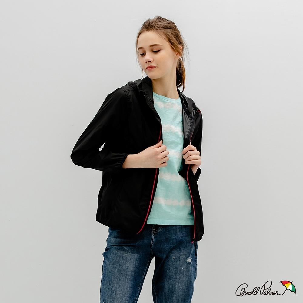Arnold Palmer -女裝-包裹式防風輕薄外套-黑色