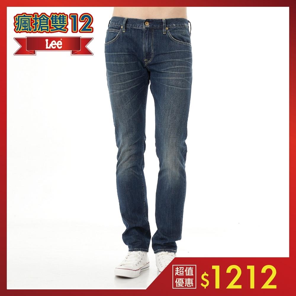 Lee 牛仔褲 709 低腰合身小直筒-男款(懷舊中藍)