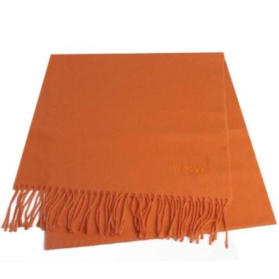 VERSACE 凡賽斯品牌字母LOGO刺繡高質感羊毛圍巾(3色任選)