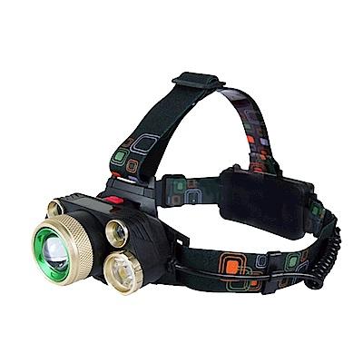 KINYO 超亮五燈頭LED頭燈(LED-728)可達500公尺