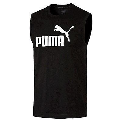 PUMA-男性基本系列No.1 Logo背心-黑色-歐規