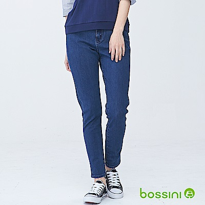 bossini女裝-四向彈性合身牛仔褲01靛藍