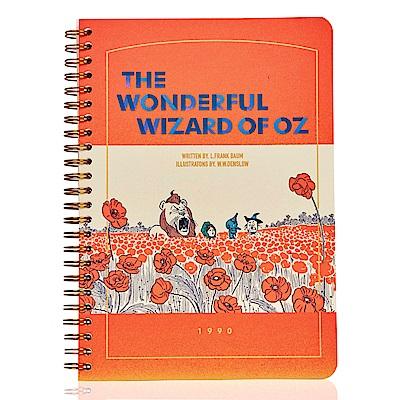 7321 Design 桃樂絲金色環裝筆記本-綠野仙蹤