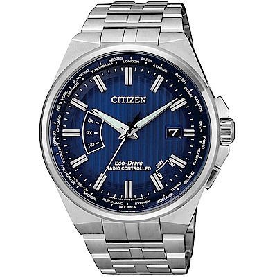 星辰CITIZEN非凡崇敬光動能電波腕錶(CB0160-51L)