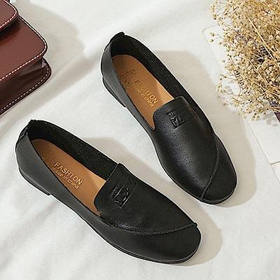 韓國KW美鞋館 韓式名媛歐美主流平底鞋-黑色