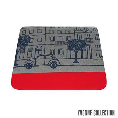 YVONNE COLLECTION 柏林街景雙人四季被(6x7呎)- 暗灰/紅