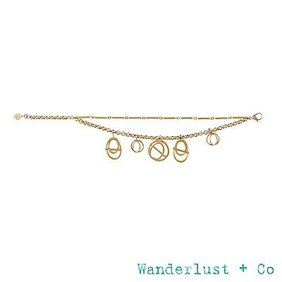 Wanderlust+Co INFUSION系列 星軌鍍18K金雙層次手鍊