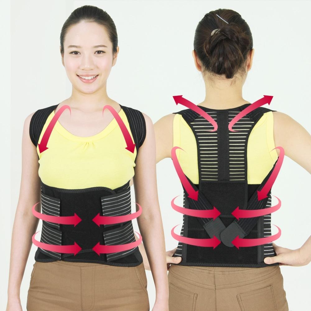 【JS嚴選】*網路熱銷*竹炭可調式多功能調整型美背帶(S70美背帶+束腰片)