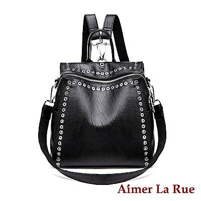Aimer La Rue 小惡魔二用後背包-黑色(快)