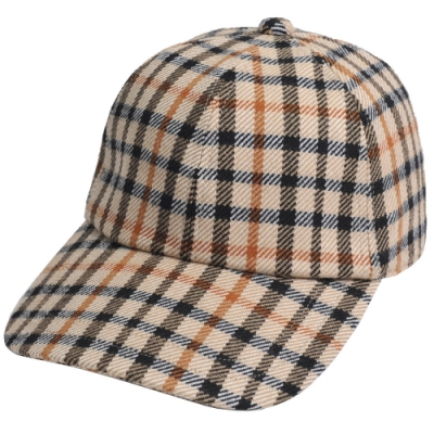 DAKS 經點品牌格紋LOGO棒球帽(卡其格)