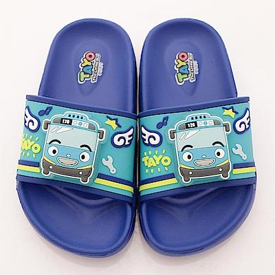 TAYO小巴士童鞋 超輕量拖鞋款 EI4714藍(中小童段)