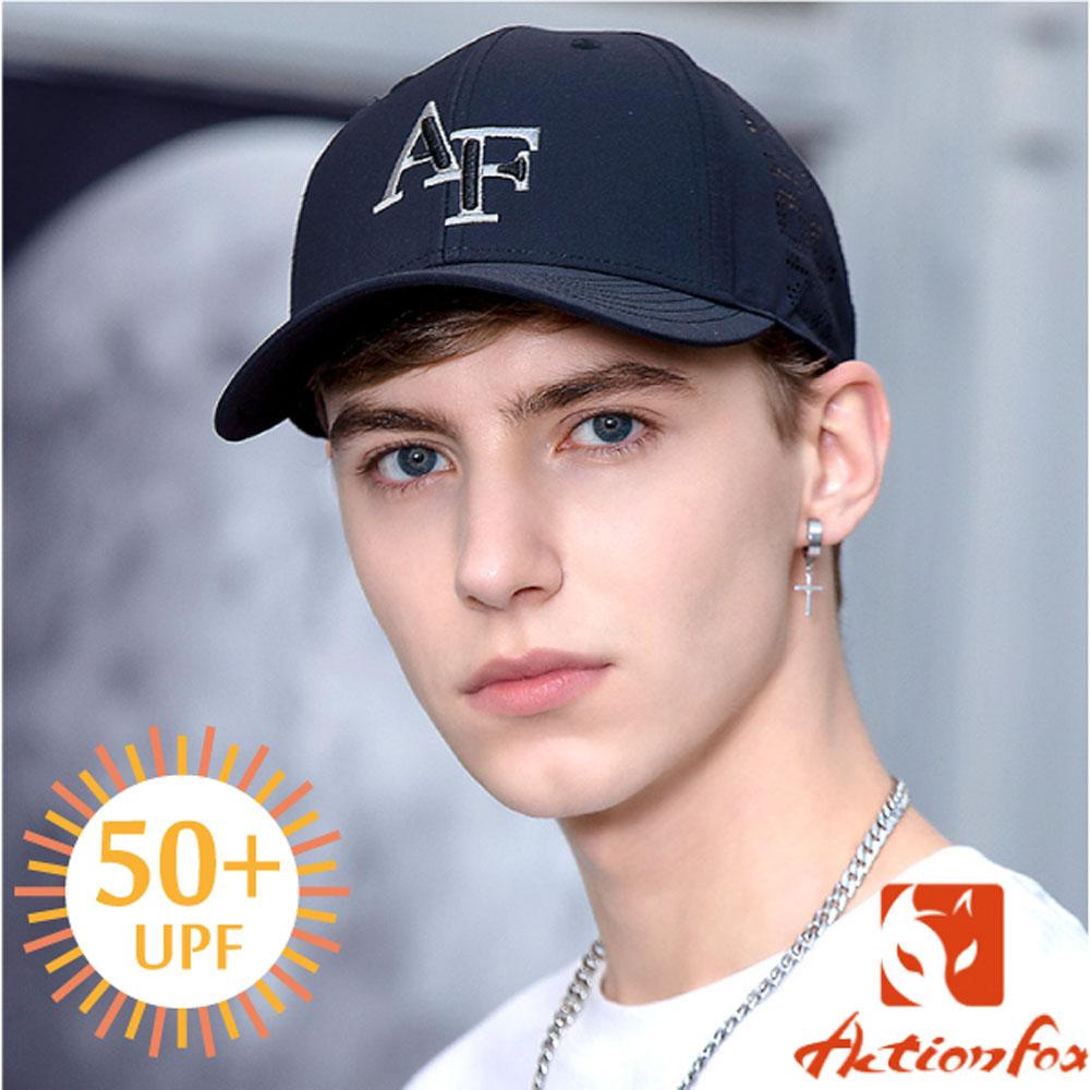 挪威 ACTIONFOX 新款 時尚休閒防曬棒球帽UPF50+_黑
