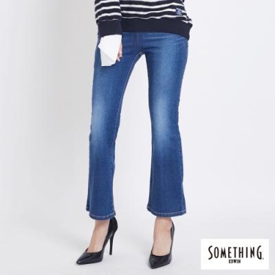 SOMETHING V-HIP 提臀 八分靴型牛仔褲-女-拔洗藍