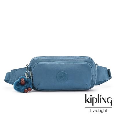 Kipling 優雅天穹藍雙層隨身腰包-HOPE
