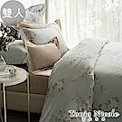 Tonia Nicole東妮寢飾  英倫莊園環保印染100%精梳棉兩用被床包組(雙人)