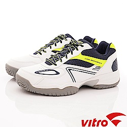 Vitro韓國專業運動品牌-Byron-W/N/L系列專業網球鞋-白藍(男)