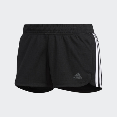 adidas 短褲 運動 休閒 健身 訓練 女款 黑 DU3502 Pacer 3-Stripes Knit