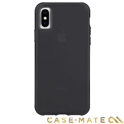 美國 Case-Mate iPhone XS/X Tough Matte 強悍防摔殼-透黑