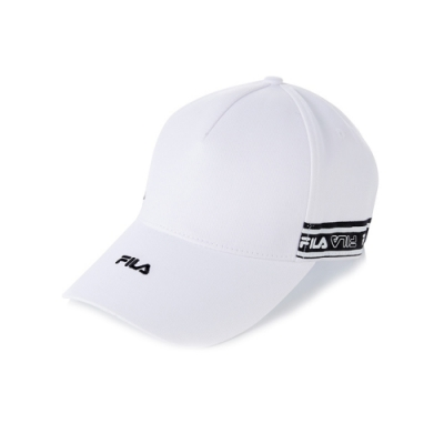FILA 時尚LOGO帽-白 HTV-1101-WT
