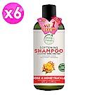 美國沛特斯 有機成份忍冬玫瑰潔淨洗髮精-(無矽靈-475mlX6瓶/箱)