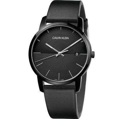 CALVIN KLEIN City都會系列條紋時尚腕錶(K2G2G4C1)