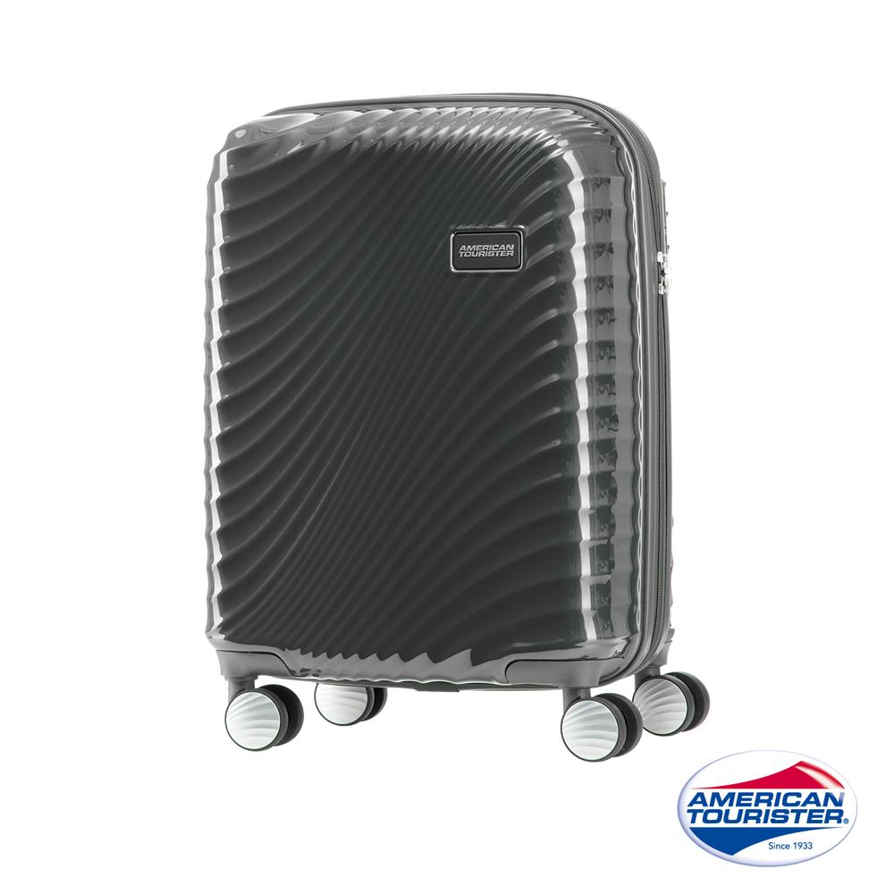 AT美國旅行者 20吋Erie流線硬殼飛機輪TSA登機箱(黑)