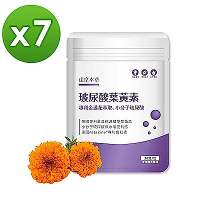 【達摩本草】玻尿酸游離型葉黃素膠囊 x7包(30顆/包)加碼送花王美舒律蒸氣眼罩5片裝