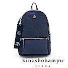 kinoshohampu Weekend系列 水洗帆布後背包 淺藍色