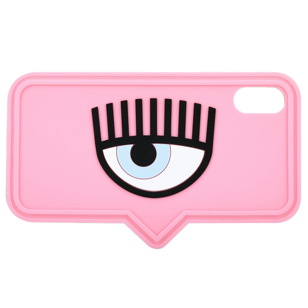 Chiara Ferragni iPhone X/XS 眼睛對話框造型手機保護套(粉色)