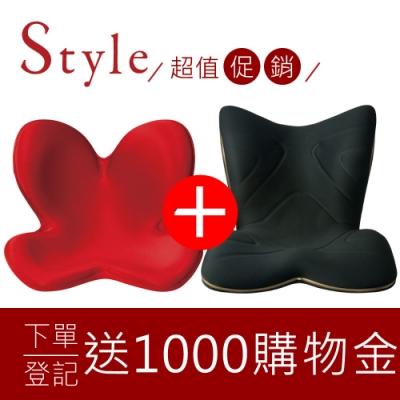 [結帳驚喜折] Style Standard 美姿調整椅 紅 + PREMIUM 舒適豪華調整椅 黑色