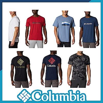 Columbia 哥倫比亞 男款- 快排LOGO短袖上衣-7色 活動款