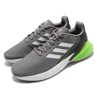 adidas 慢跑鞋 Response SR 運動 男鞋 愛迪達 三線 路跑 透氣 緩震 穿搭 灰 綠 FX3630