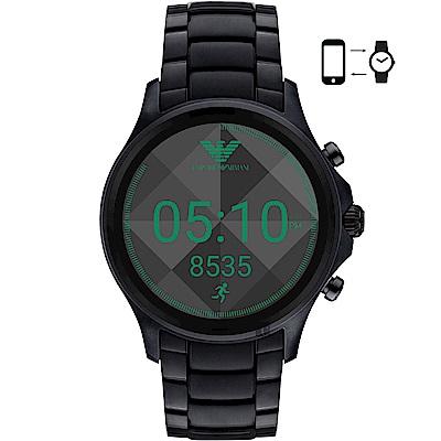Emporio Armani Connected觸控智能手錶-黑46mm