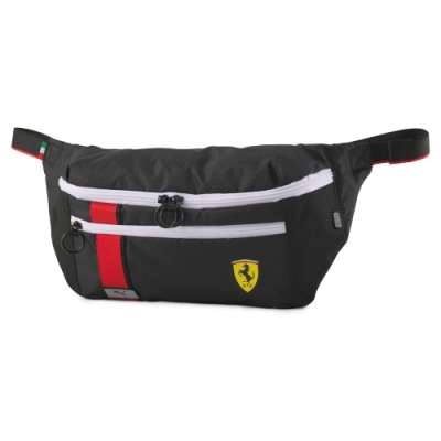 PUMA-男女Ferrari Race系列腰包-黑色