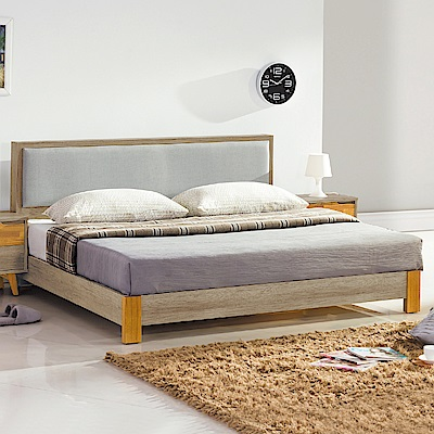AS-馬克雙人加大6尺床片式床台-182x202x90cm