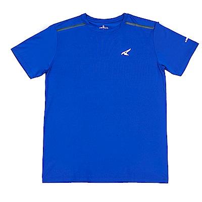 【AIRWALK】簡約吸排圓領T恤-寶藍色