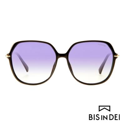 BIS IN DEI 巴黎女伶氣質框太陽眼鏡-黑