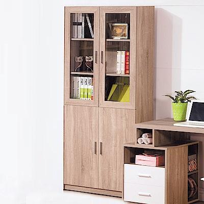 AS-凱西2.7尺四門書櫃-80x32x183cm