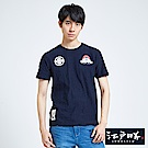 EDWIN 江戶勝 潮風圖騰短袖T恤-男-丈青