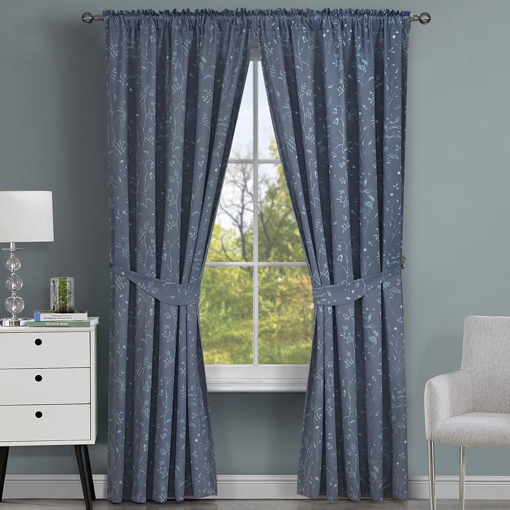 【伊美居】夏洛印花遮光單層半腰窗簾 130x165cm -2件