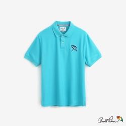 Arnold Palmer-男裝-基本款大傘快乾POLO衫-綠