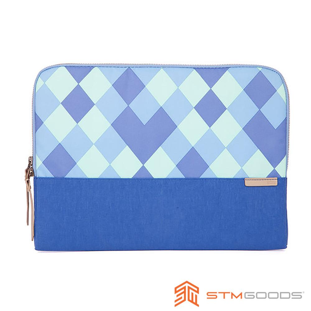 STM Grace Sleeve 13吋 時尚菱格紋筆電內袋 / 防震包 (藍)