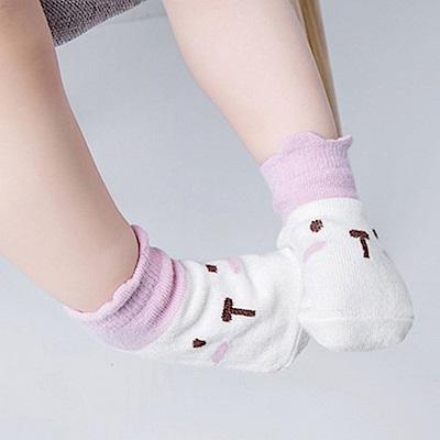 Baby unicorn 動物撞色防滑嬰兒短襪