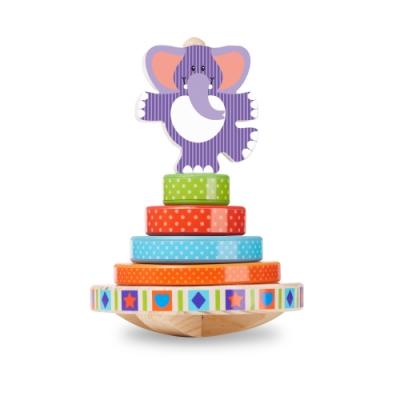 美國瑪莉莎 Melissa & Doug 幼兒啟蒙 - 搖擺大象疊疊樂